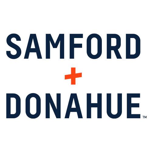 Samford + Donahue stacked wordmark