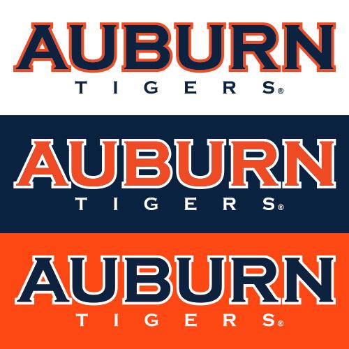 Auburn Athletics Copperplate Word Marks