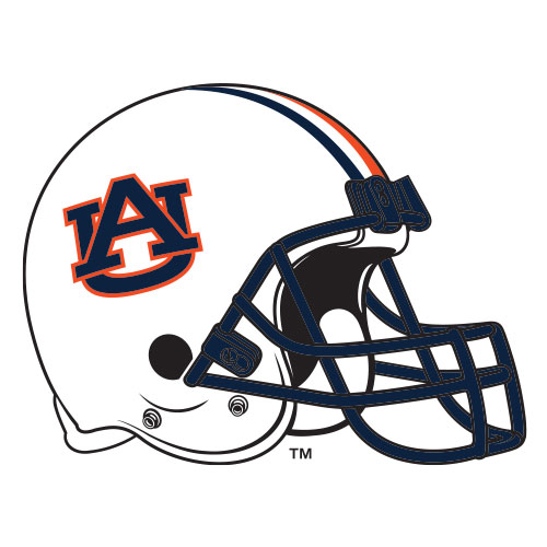 Auburn Football Helmet Mark facing right