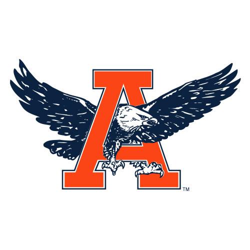 eagle flying through A vintage logo