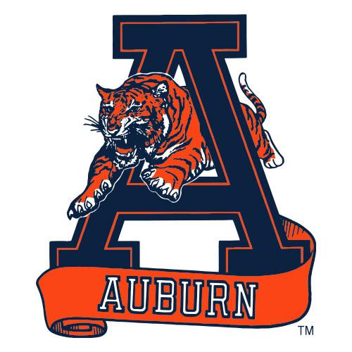 Tiger leaping through A vintage logo