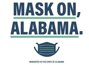 Mask on, Alabama